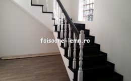 Balustrada din lemn de interior 01