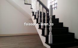 Balustrada din lemn de interior 02