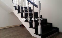 Balustrada din lemn de interior 04