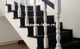 Balustrada din lemn de interior 05