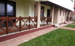 Balustrade din lemn pentru terase 01