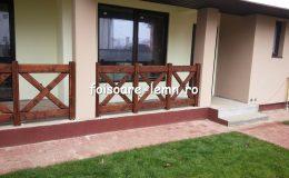 Balustrade din lemn pentru terase 03