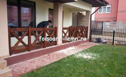 Balustrade din lemn pentru terase 08