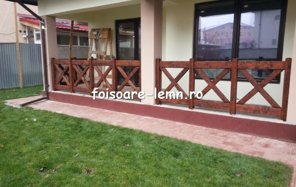 Balustrade din lemn pentru terase