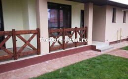 Balustrade din lemn pentru terase 28