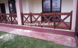 Balustrade din lemn pentru terase 30