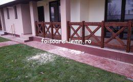 Balustrade din lemn pentru terase 34