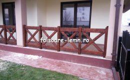 Balustrade din lemn pentru terase 38