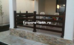 Balustrade lemn balcon 01