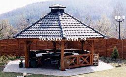 Foisor lemn hexagonal 01