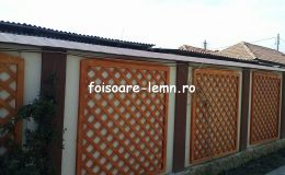 Gard decorativ din lemn 03