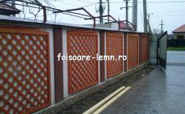 Gard decorativ din lemn 14