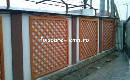 Gard decorativ din lemn 15