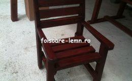 Masa si scaune din lemn masiv 05