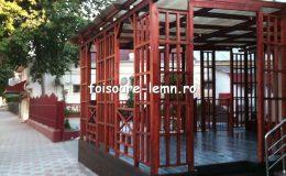 Pergola din lemn exterior 14