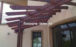 Pergola lemn intrare casa 12