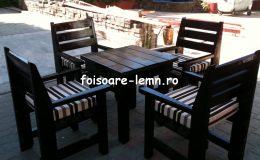 Set masa si scaune lemn 01