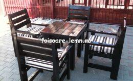 Set masa si scaune lemn 03