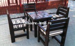 Set masa si scaune lemn 04