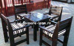 Set masa si scaune lemn 05