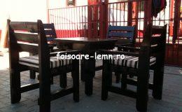 Set masa si scaune lemn 06