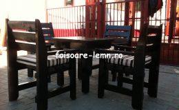 Set masa si scaune lemn 07