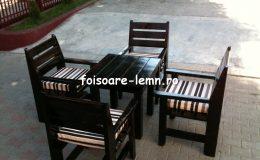 Set masa si scaune lemn 08
