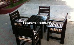 Set masa si scaune lemn 09