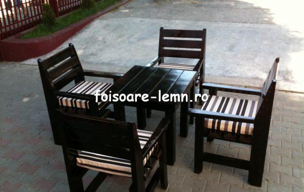 Set masa si scaune lemn
