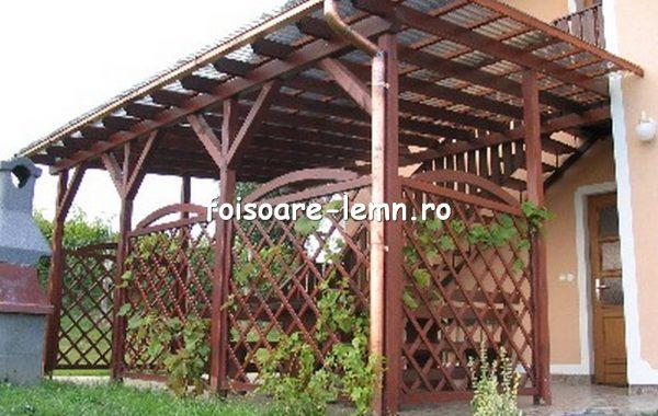Terase din lemn acoperite cu policarbonat